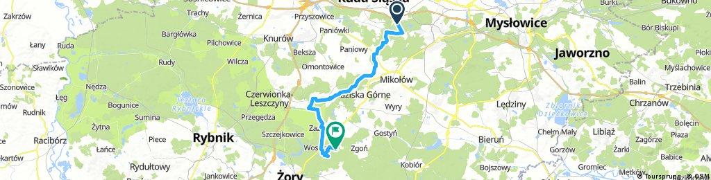 Lengthy bike tour from Ruda Śląska to Orzesze
