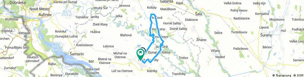 Long ride from Dunajská Streda to District of Dunajská Streda