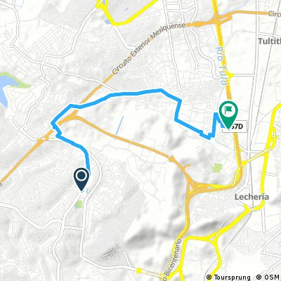 Short bike tour from Ciudad Lopez Mateos to Cuautitlán Izcalli