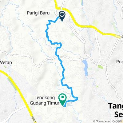 Brief bike tour from Parigi Baru to Tangerang Selatan