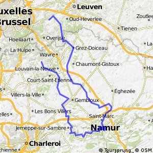 Cycling routes and bike maps in and around Basse Lasne Bikemap