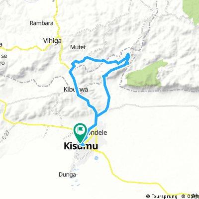 Athletic ride in the beautiful surrondings hills of Kisumu