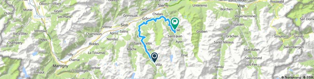 Day 1 - Leg 2 Evolene to Vissoie - Lunch Relais Des Melezes