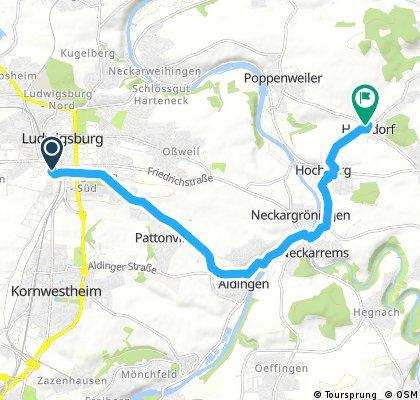 Radrunde von Ludwigsburg nach Remseck am Neckar