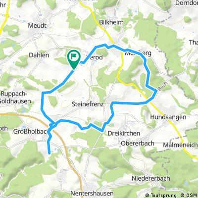 Ausfahrt durch Zehnhausen bei Wallmerod