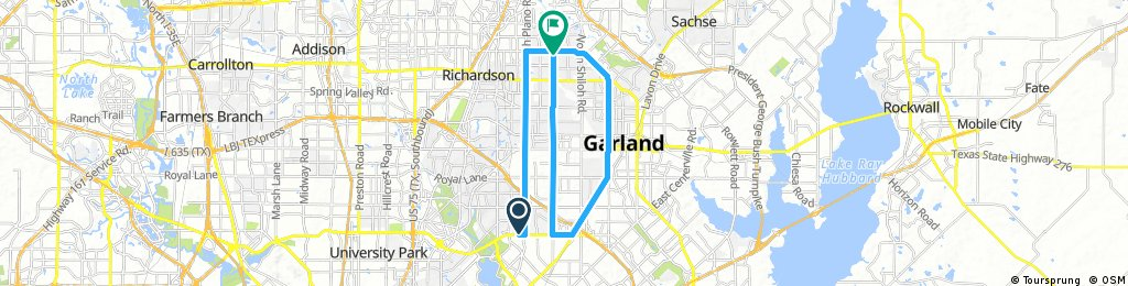 Distance Route Home For Max Calorie Burn