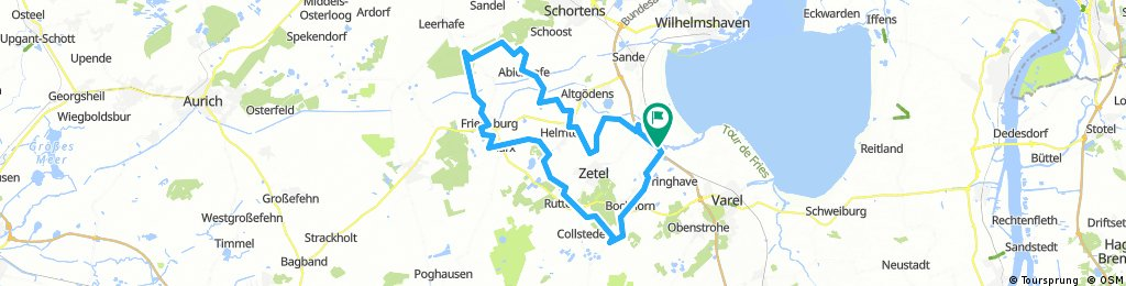 Knotenpunktsystem Varel, Große Friesland-Tour/E-Bike Tour