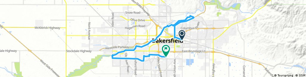 Lengthy ride through Bakersfield
