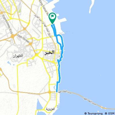 Long ride through Al Khobar