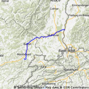 Neuenburg bis Mandeure