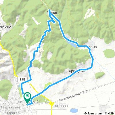 ride through Stara Zagora