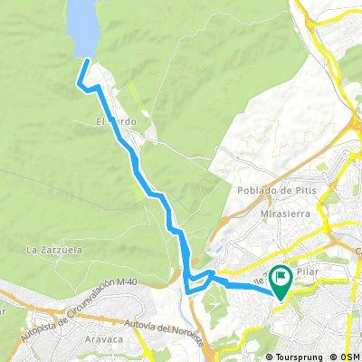 Ruta a la presa de El Pardo