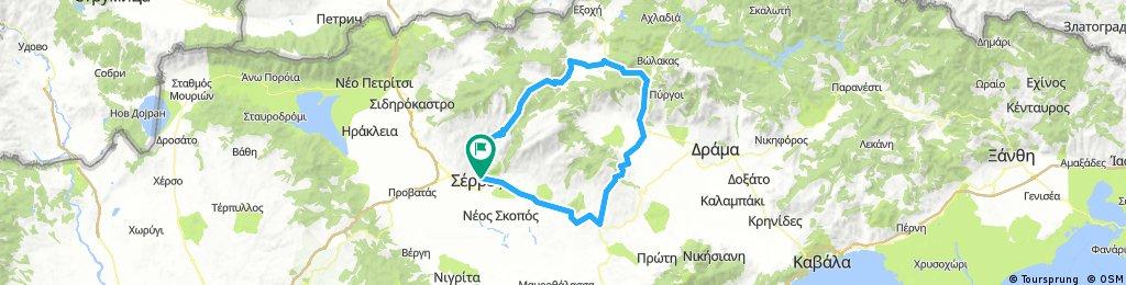 Serres-Kato Vrontou-Perithorio-Ochiro-Grantis-Prosotsani-Kallithea-Skopia-Serres