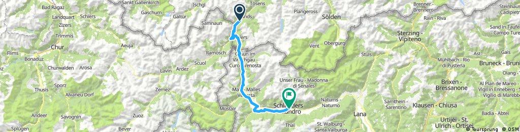 Sattelfest Radtour Pfunds nach Schlanders