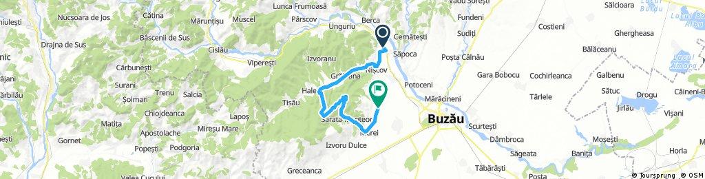 Lengthy bike tour from Cândești to Vernești