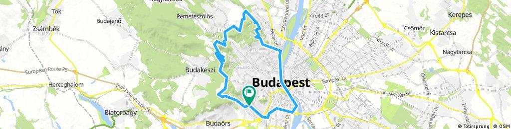 Best of Budapest. Round trip from Gazdagret via Budai hegyek and bank of Dunau