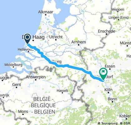hook of holland to dusseldorf