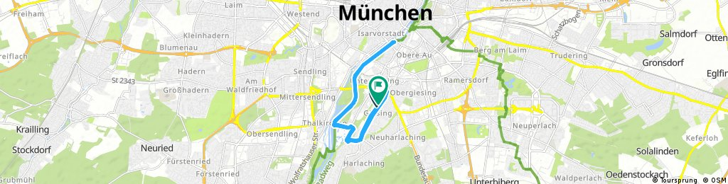 Radrunde durch München