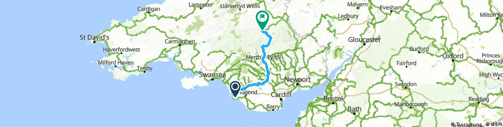 taff trail and route 4 from brecon