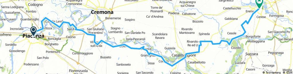 lungo il po - Piacenza Mantova -TAPPA 2
