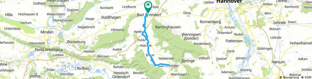 21.05.17 Bad Nenndorf-Bad Münder-und zurück über Bakede nach Bad Nenndorf