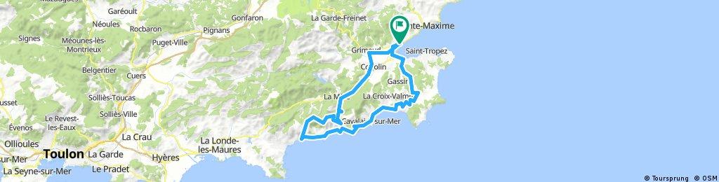 Port Grimaud - Bergstraße nach Le Lavandou -Cavaliere-sur-Mer