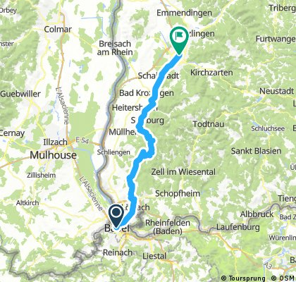 RT - Basel to Frieburg Option 2 mountian