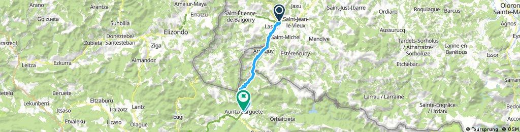 Lengthy ride through Auritz/Burguete