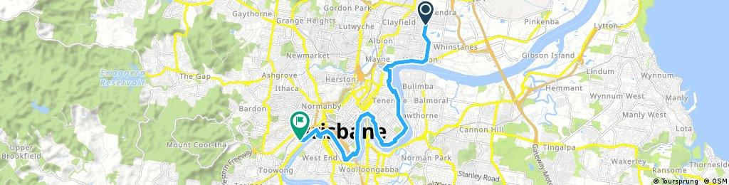 bike tour from Hendra to Milton