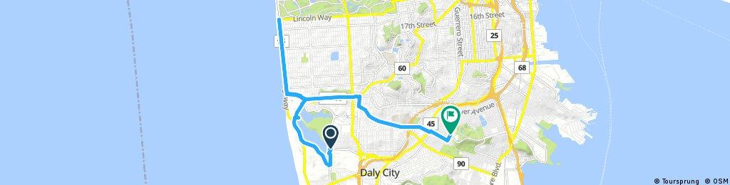 ride through San Francisco