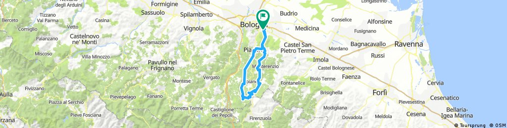 GranFondo Le Valli Bolognesi - percorso medio