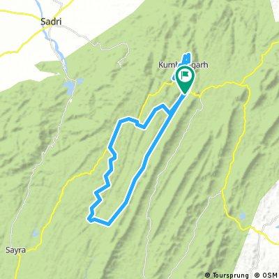 Ronde Fort en bergen Kumbhalgarh