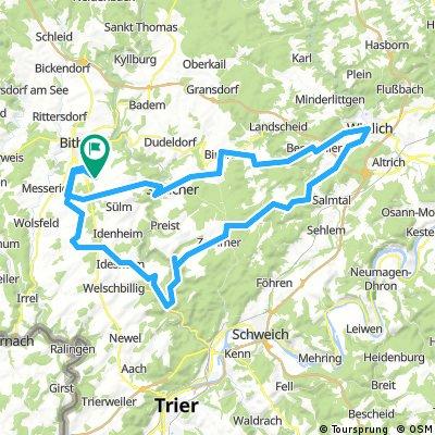Wittlich - Kordel route za 27 mei