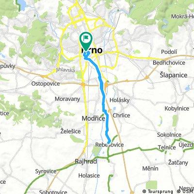 Brno - Rebešovice a zpět, po cyklostezce