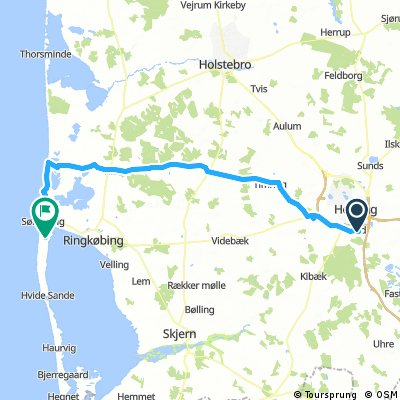 Lind - Klegod 74 km
