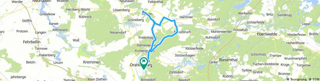 Rundroute mit Schloss Liebenberg bei Marion