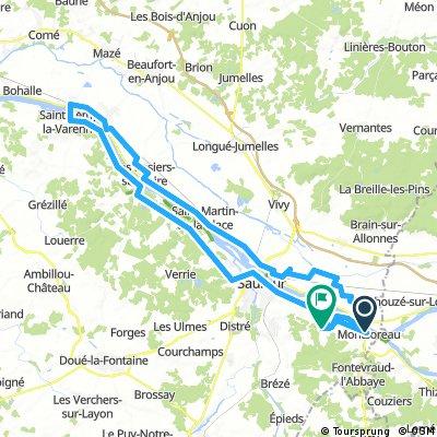 LA LOIRE-MONTSOREAU-SAUMUR-SAINT REMY DE VARENNE-92KM