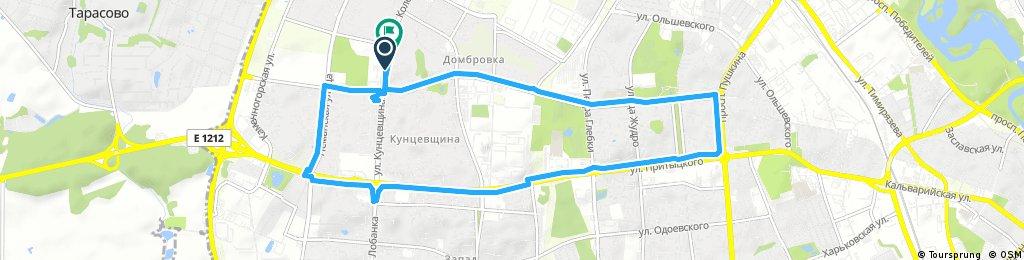ride through Минск