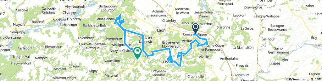 training 1 vtt: 28/05/2017: 110kms