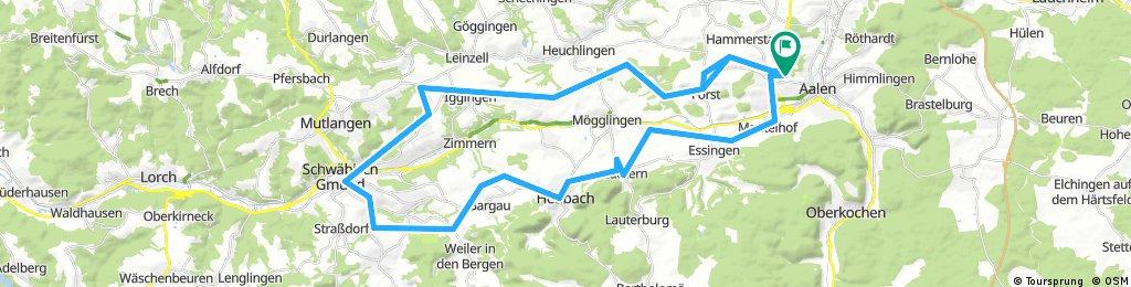 Tour 9 - Eine Panoramatour zwischen Aalen und Gmünd