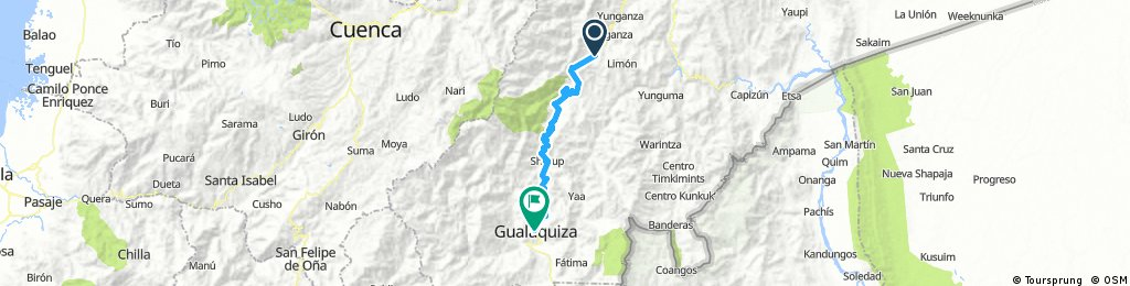 Long bike tour through Gualaquiza