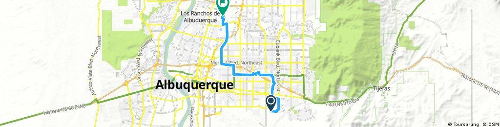 ride through Albuquerque