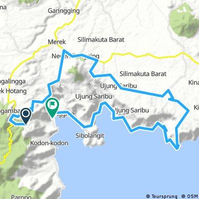 Lake Toba MTB day 1 Taman Simalem to Tongging