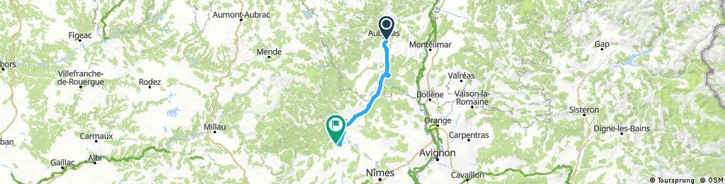 Long ride through Massillargues-Attuech