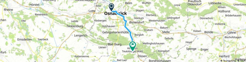 Ausfahrt Von Osnabrück nach Hilter a.T.W