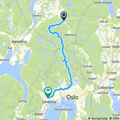 Lengthy ride from Grua to Gjettum