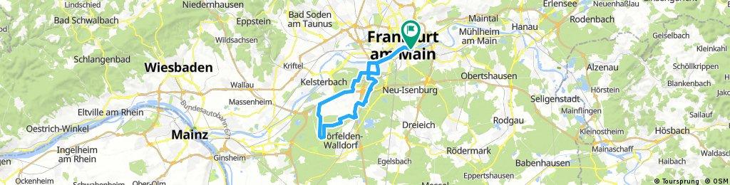 Lange Radrunde durch Frankfurt am Main