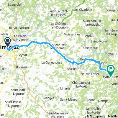 Etappe 1 / Limoges-Eymoutiers