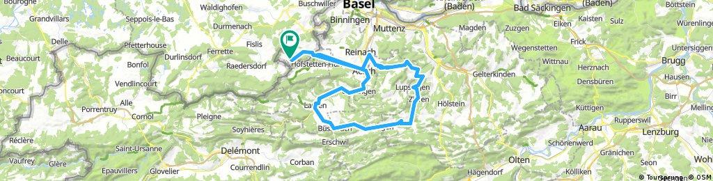 85km Rennvelo - R'dorf-Gempen-Reigoldswil-Büsserach-Laufen-Aesch-Hofstetten-Metzerlen