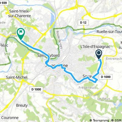 bike tour from Soyaux to Saint-Yrieix -sur-Charente
